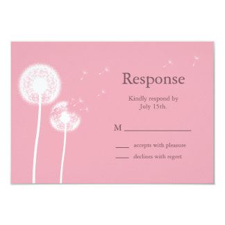 Pink Best Wishes! RSVP Card