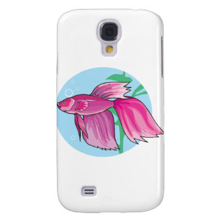 pink beta fish samsung galaxy s4 cover