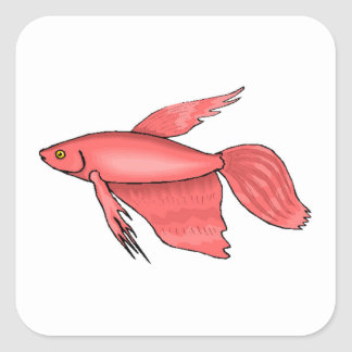 Pink Betta Fish Sticker