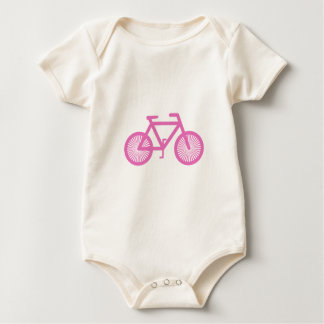 Pink Bicycle Baby Bodysuit