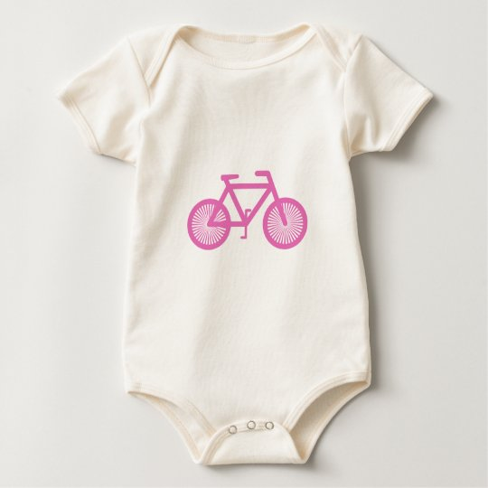 Pink Bicycle Baby Bodysuit