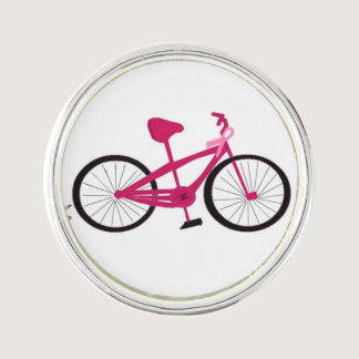 Pink Bicycle Bike for a Cure Lapel Pin