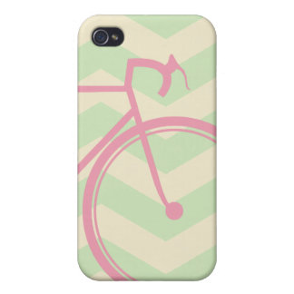 Pink bicycle Chevron Cases For iPhone 4