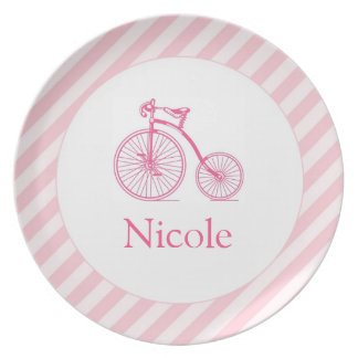 Pink Bicycle Girly Plate