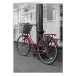 Pink Bicycle Greeting Cards