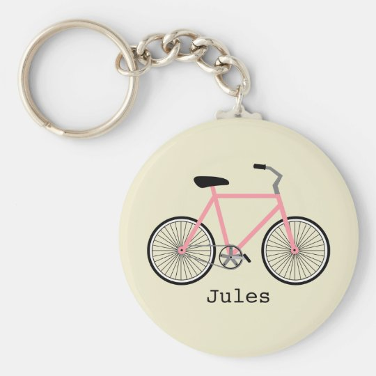 Pink Bicycle Keychain