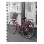 Pink bicycle notebooks