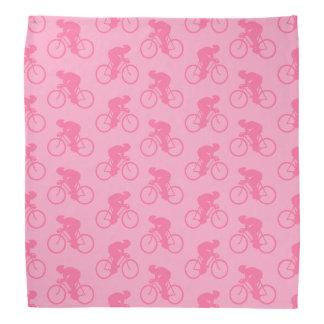 Pink Bicycle Pattern. Bandana