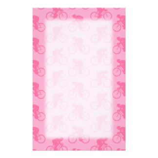 Pink Bicycle Pattern. Stationery