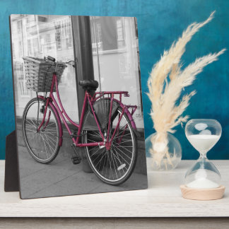 Pink Bicycle Photo Plaque