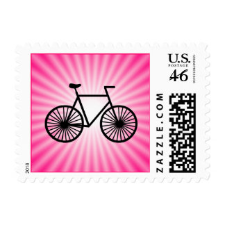 Pink Bicycle Postage Stamps