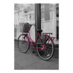 Pink bicycle posters
