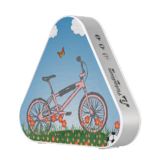 Pink bicycle speaker