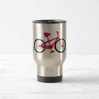Pink Bicycle Travel Mug