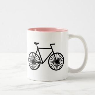 Pink Bicycle Two-Tone Coffee Mug