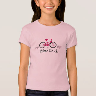 Pink Bicycle with Biker Chick Saying T-Shirt