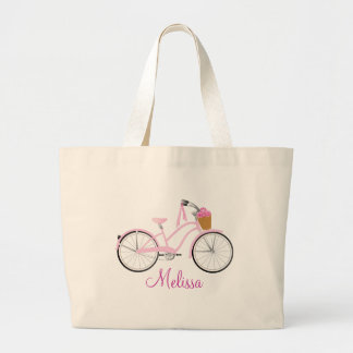 Pink Bicycle with Streamers Bag