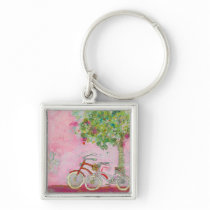 Pink Bicycles Keychain