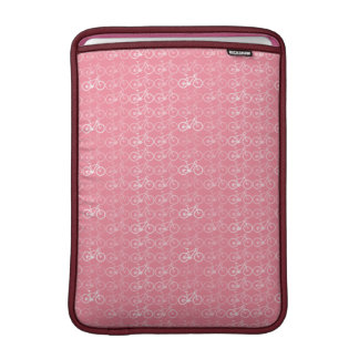 pink bicycles pattern sleeve for MacBook air