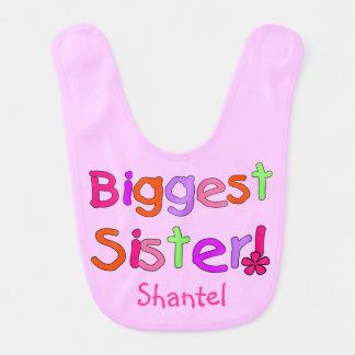 Pink Biggest Sister Bib