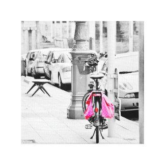 Pink Bike Canvas Print