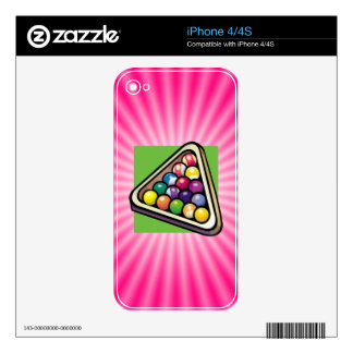 Pink Billiards Skin For The iPhone 4S