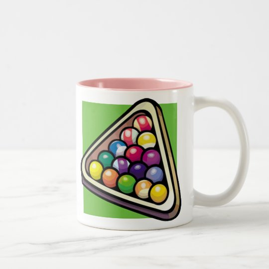 Pink Billiards Two-Tone Coffee Mug