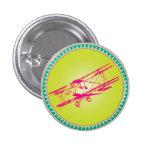 Pink Biplane Pins