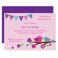 Bird Birthday Invitations Announcements Zazzle
