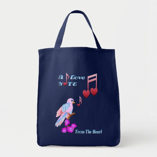 Pink Bird and Love Notes-lettered Bags
