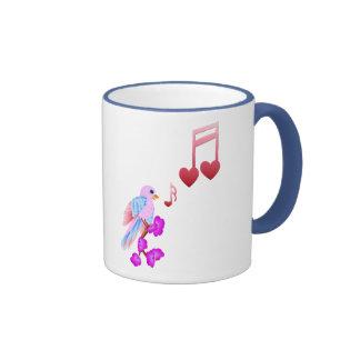 Pink Bird and Love Notes Mugs
