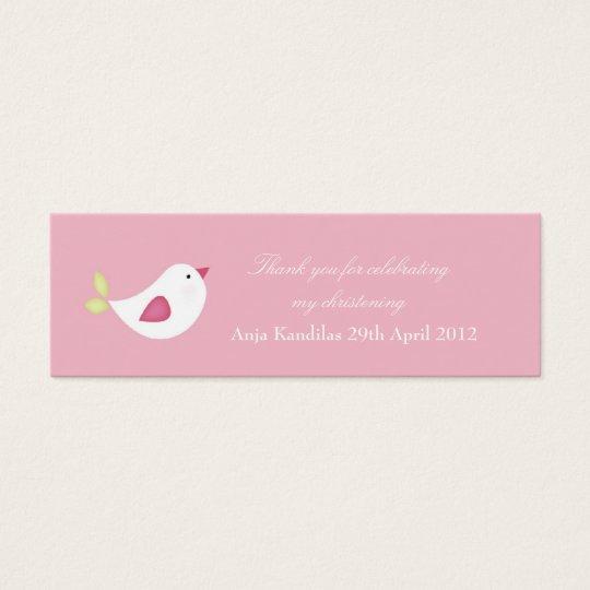 Pink Bird Baby Shower / Christening Tags