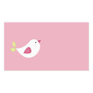 Pink Bird Baby Shower / Christening Tags Business Card