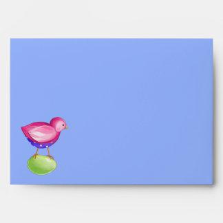 Pink Bird blue Card envelope