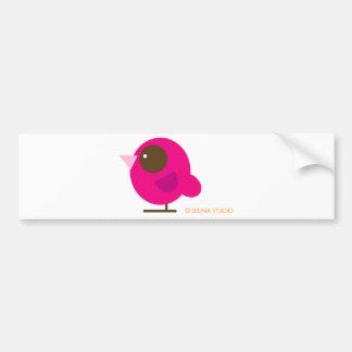 Pink Bird Bumper Sticker