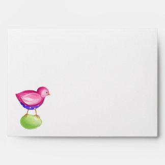 Pink Bird Card envelope