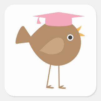Pink Bird Graduation Stickers