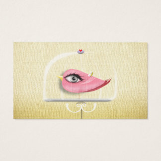 Pink Bird in a Cage Business Card