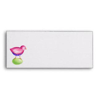 Pink Bird Letterhead Envelope