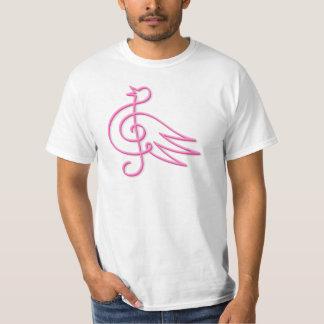 Pink bird music T-Shirt