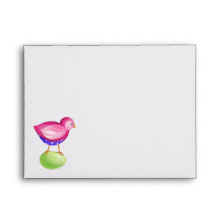 Pink Bird Note Card envelope