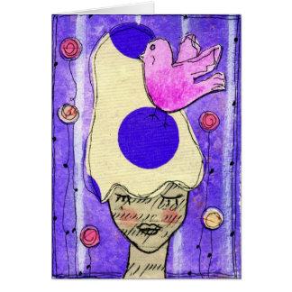 Pink Bird Notecard