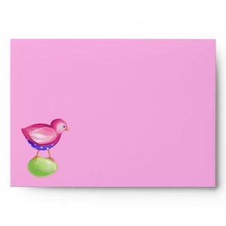 Pink Bird pink Card envelope envelope