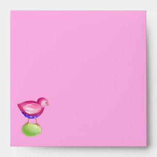 Pink Bird pink Invitation Envelope