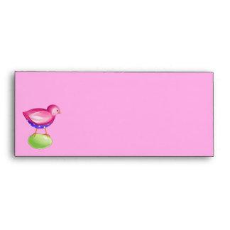 Pink Bird pink Letterhead Envelope