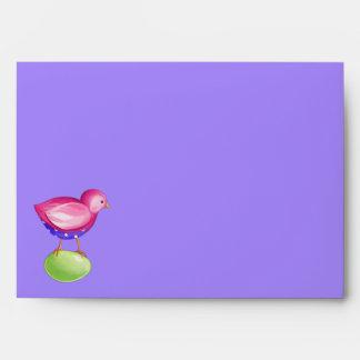 Pink Bird purple Card envelope