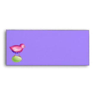 Pink Bird purple Letterhead Envelope