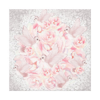Pink Bird's Canvas Print