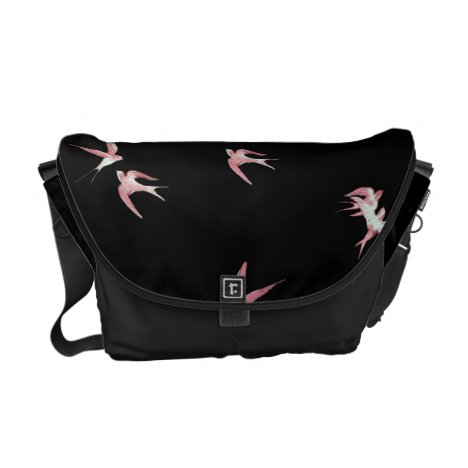 PINK BIRDS COURIER BAG