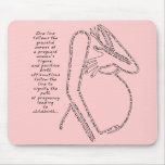 Pink Birth Affirmations Mousepad